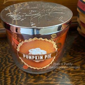 COPY - BBW Pumpkin Pie Candle. NEW 3 wick